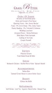 Wedding Reception Program Template Itinerary Templates Free Programs