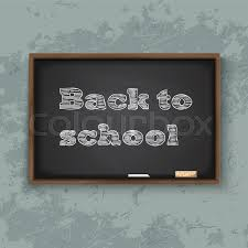 School Chalkboard Background Back To School Chalkboard Background Stock Vector Colourbox