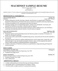 Free Resume Templates For Machinist Machinist Resume Template Free Classy Free Resume Templates For Machinist