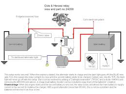 recommended dual battery systems auxiliary battery chargers dual battery circuit based on a relay isolator credit to fernando bandeira bandeira at ananzi co za
