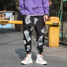 Hedonistk <b>New Fashion</b> Printed Men Harem Pants Hip Hop Casual ...