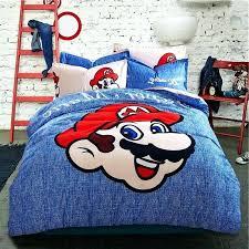 super mario bed sets super bedding set photo 1 of 4 duvet cover pictures gallery 1 super kids bedding set blue beige reversible super bros comforter set