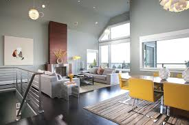 gray color schemes for living room view in gallery the adjoining dining space adds to the