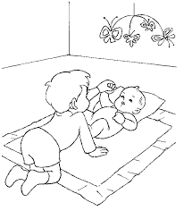 Small Picture coloring page Baby Baby New baby coloring Pinterest Baby