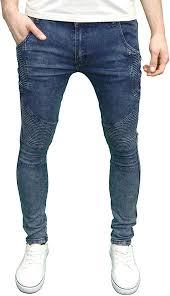 Amazon Designer Jeans Soulstar Mens Designer Stretch Skinny Fit Fashion Biker Jeans