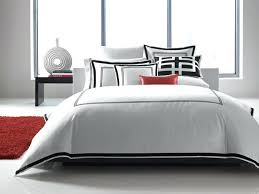 hotel collection bedding tuxedo embroidery contemporary bedroom macys white