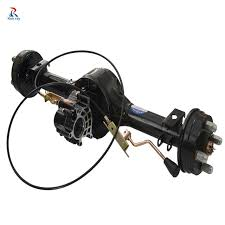 650w 36v 60v 72v disc brake electric vehicle brushless dc motor with transaxle tricycle rear axle integrated for e rickshaw