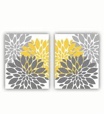 grey and mustard yellow wall art flower bursts floral botanical set 8 x10 digital on grey and mustard yellow wall art with grey and mustard yellow wall art flower bursts floral botanical set