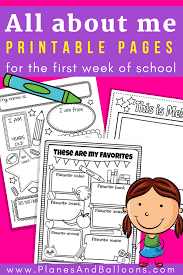 All About Me Worksheets Pdf All About Me Worksheets Free Printable Perfect For Back To