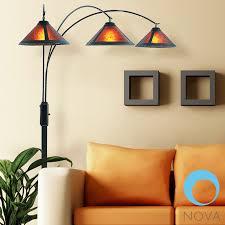 nova mica 3 light arc floor lamp