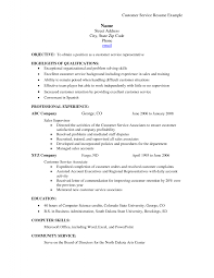 Resume Examples Templates Awesome Example Of Customer Service
