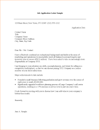 8 Cover Letter Sample For Job Application Basic Job What Is A Cover