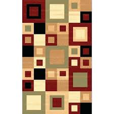 renaissance color block area rug texture and threshold