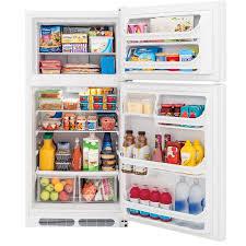Kitchen Appliance Shop Shop Frigidaire 146 Cu Ft Top Freezer Refrigerator White At