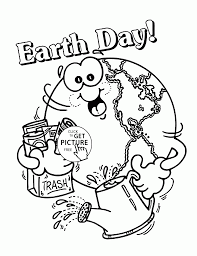 Small Picture Happy Earth Earth Day coloring page for kids coloring pages