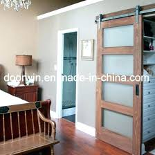 interior double door hardware oak pine wood frosted glass barn door interior iding entry for villa