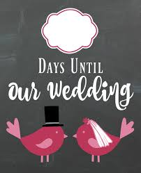 diy lovebirds wedding countdown sign a bride on a budget Wedding Countdown Photos want a wedding countdown sign? you can get this one free from www abrideonabudget wedding countdown images