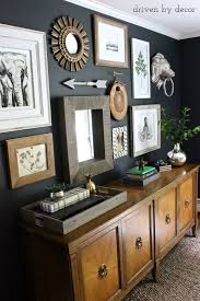 home office artwork. Eclectic Gallery Wall On Dark Charcoal -Love The Credenza And Art. Home Office Artwork O