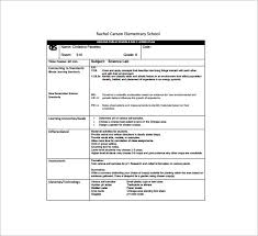 daily lesson log format daily lesson plan template 14 free pdf word format download