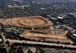apple new office. Widely Discussed Earlier Draft Of The New Company\u0027s Headquarters In Cupertino Form A Giant Ring, Nicknamed \ Apple Office .