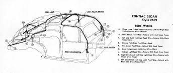 body wiring diagram for 1946 47 pontiac sedan style 2609 circuit body wiring for 1946 47 pontiac sedan style 2609