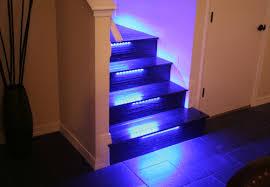 led strip stair lights the micro illumination home design ideas