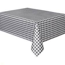 Black And White Gingham Tablecloth New Plastic Black Gingham Table Cover  108