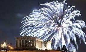 firework #greece   Fireworks, New years eve fireworks, Greece