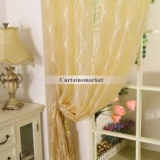 popular of pale yellow curtains and yellow polyester fabric sheer curtains with patterns