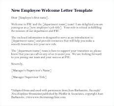 Welcome Letter Template Free Download New Employee Welcome Letter Write Up Template