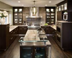pretty asian style kitchen features solid wood mounte table and