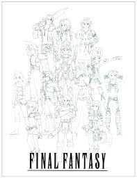 Final Fantasy Coloring Pages Final Fantasy Coloring Pages Fantasy
