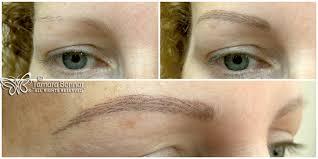 photo update on healed semi permanent eyebrows by tamara bonnar