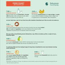 Baby Food Chart 9 Months Old 8th Month Baby Food Chart Ple Kiwi Fruit Is Best Or Not