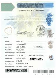 How To Make A Birth Certificate Birth Certificates Province Of British Columbia