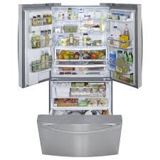 kenmore freezer. kenmore elite - 72093 33 cu. ft. french door bottom-freezer refrigerator stainless steel | sears outlet freezer