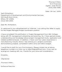 Sample Project Manager Cover Letter Sarahepps Com