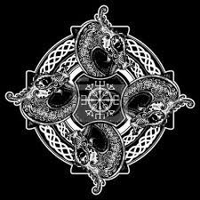 Plakát Keltské Křížové Tetování A Design Trička Helma Awe Aegishjalmur
