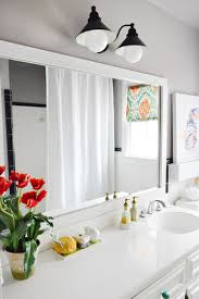 bathroom mirror frame tile. Putting A Dressed Up Frame Around Plain Builder Mirror Is One Of The Easiest Ways To Upgrade Bathroom, Especially If You\u0027re Working With Tile And Bathroom