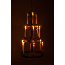 ariella manor rustic candle chandelier black country metal works