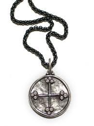 Erica Molinari Design Erica Molinari Christian Cross Star In Sterling Silver