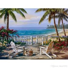 2018 modern art oil paintings coastal view sung kim canvas reion hand painted wall decor from cherry02016 101 51 dhgate com