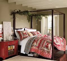 Image of: Pottery Barn Canopy Bed Decor