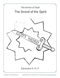 Discover our free coloring pages for kids. Sword Of The Spirit Coloring Page