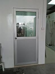 aluminium frame with normal tempered laminated glass panel swing door