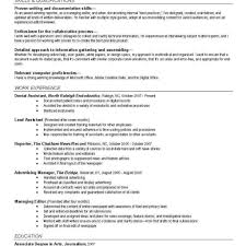 News Reporter Resume Example Journalist Resume Formats With
