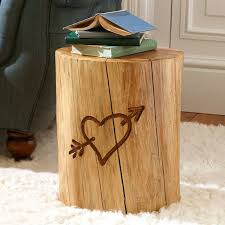 gorgeous tree stump nightstand inverted trunk table side tables and end houzz tree stump end table k41