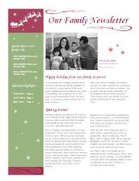 free holiday newsletter template holiday newsletter template word