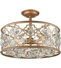 semi flush mount lighting. ELK 32092/4 Armand 4 Light 17 Inch Matte Gold Semi Flush Mount Ceiling Lighting 3