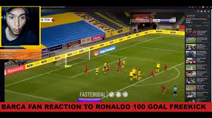 Crazy Fan React To Cristiano Ronaldo 100 Goal Free Kick Against Sweden  Portugal Vs Sweden Highlights - YouTube